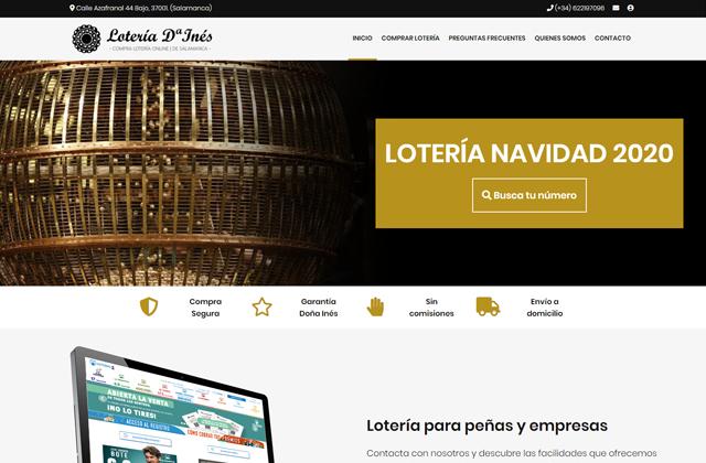 Lotería Online Doña Inés   Loteria Navidad 2021